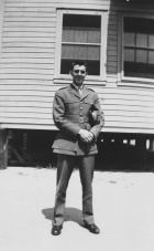"""""""'Here's to the old 50 Cal Pope.' – Lt. Carbeau."""" Charles W. Carbeau was killed in action on Saipan."""