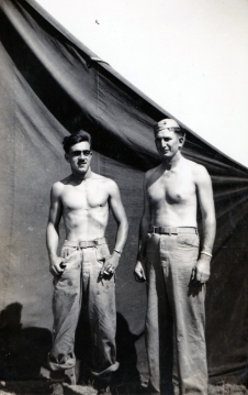 """""""Blacky & Deets – a swabby corpsman attached to D Co. to take care of us. A first aid man."""" Pharmacist's Mate Deets was killed on Iwo Jima."""