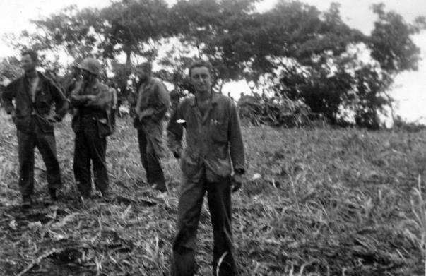 "Captain Irving ""Buck"" Schechter, the skipper of Company A, on Saipan."
