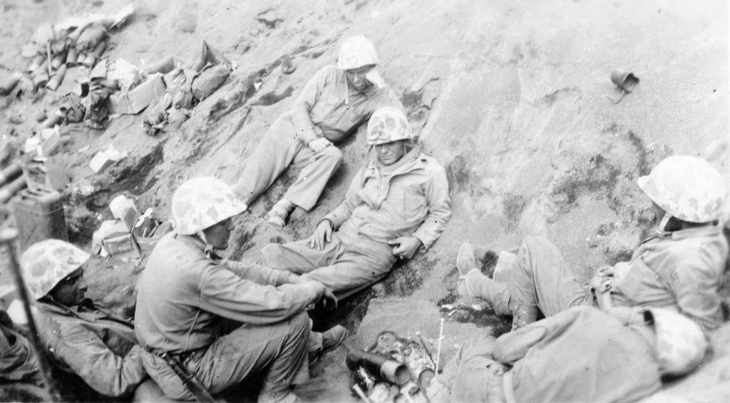 """A quiet moment, Iwo Jima."""