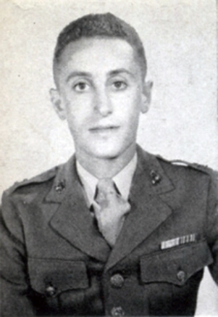 Captain Irving Schechter, commanding officer of Able Company, 24th Marines.
