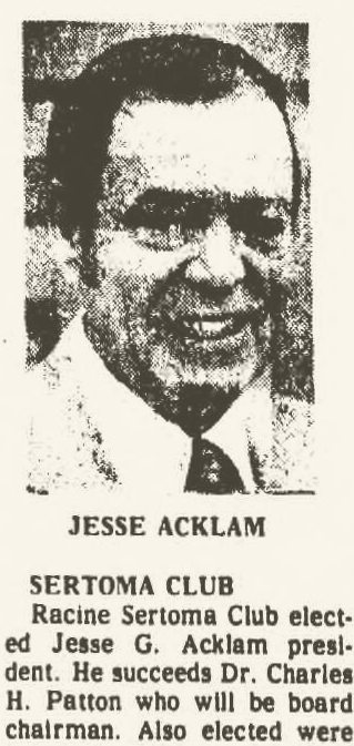 Jesse in April, 1977. Racine Journal Times.