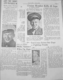 These articles, published in the spring of 1944, describe DuBeck's bravery in the battle of Namur. Visit http://delvalnamknights.org/ for more information