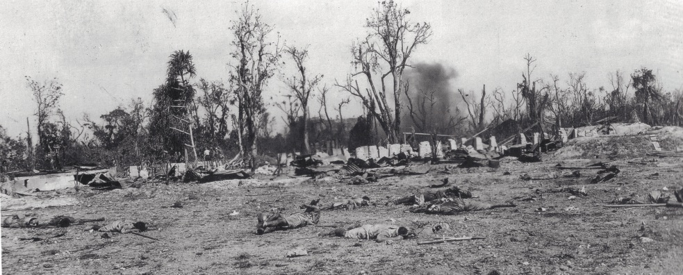 The scene of the attack on B Company, February 2 1944.