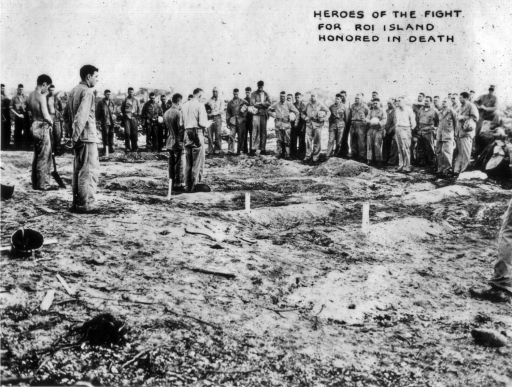Marine dead are honorably buried on Roi Island.