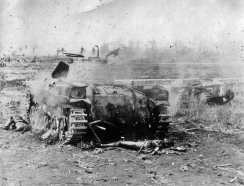 Light Japanese tanks were vulnerable to American tanks, bazookas, mortars, and in some cases even small-arms fire.