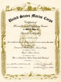 DuBeck's well-earned discharge from the Marine Corps.
