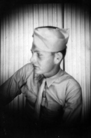 Dues in a profile shot, probably taken on Maui in the spring of 1944.