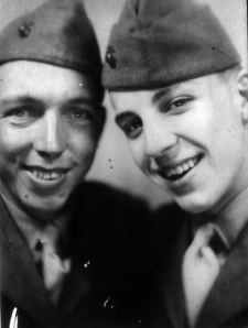 PFCs Richard Dues and Bernard Elissagaray joined A/1/24 during the spring of 1944. Dues was 18, Elissagaray 17. Both were fresh from boot camp.