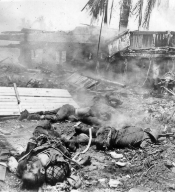 Japanese dead in Agana, Guam, July 1944.