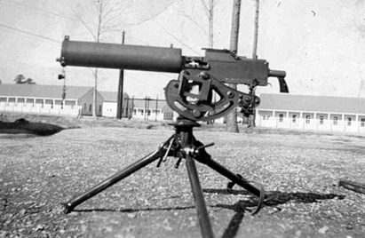 A nice study of the M1917 Browning water-cooled .30 caliber machine gun - the primary weapon of DuBeck's machine gun platoon.