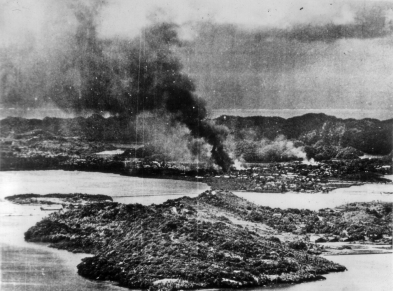 The results of a Marine bombing strike.