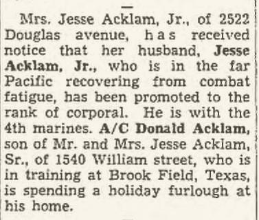 Racine Journal Times, December 22, 1944.