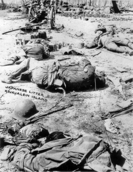 Dead Japanese on Kwajalein.