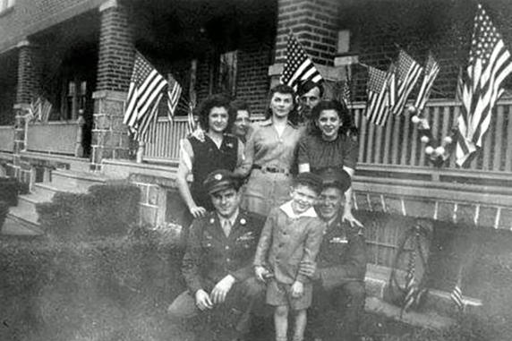 At home in Philadelphia after the war.