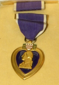 Ed DuBeck's Purple Heart.