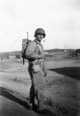 Private Sandy Ball at Camp Pendleton in 1943.