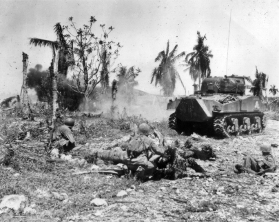 Close tank-infantry support was crucial. The tanks took care of fortified positions, while the infantry shot any suicide attackers armed with mines.