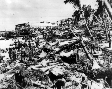 With the fighting over on Tarawa, the beach can be put back into some semblance of order.