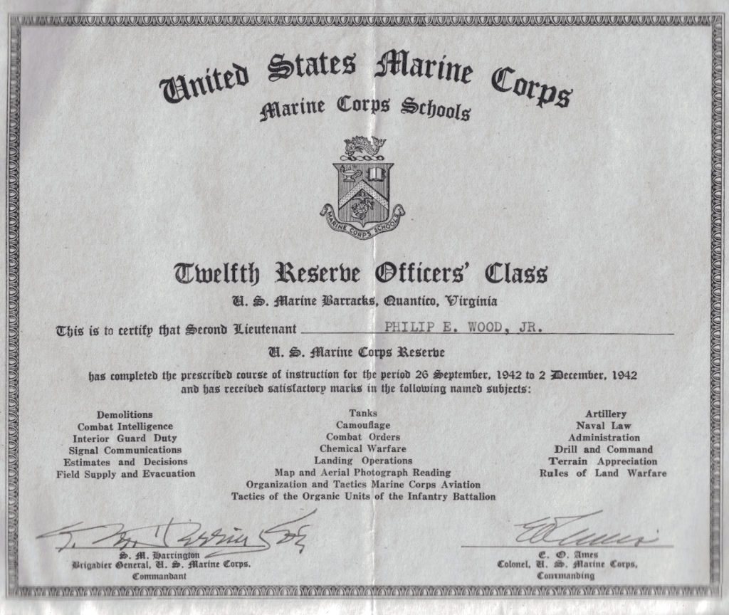 Phil received this diploma at his graduation.