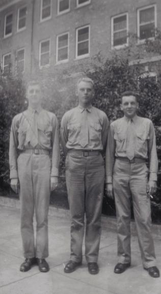 Three officer candidates at Quantico, 1942.