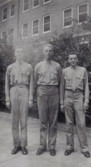 Three officer candidates at Quantico, 1942.