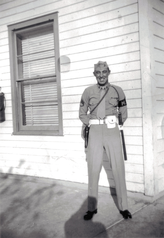 Platoon Sergeant George Smith at Barstow.