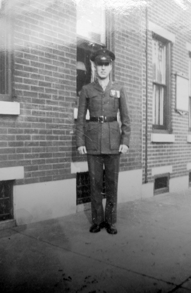 George Smith on leave after completing boot camp, 1942.