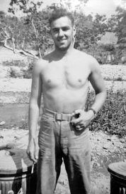 Raymond Davis, the company carpenter, at Camp Pendleton.