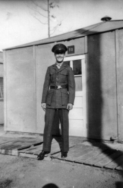 JJ outside Hut 10. New River, 1942.