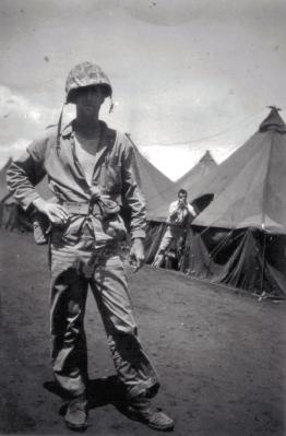 Lt. Wood, all business at Camp Maui.