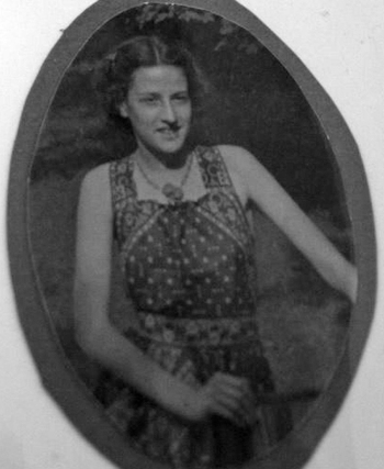 Phil's younger sister, Gretchen Wood, about 1938.