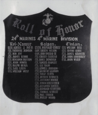 This plaque hung in the officer's mess of the 24th Marines' Camp Maui.