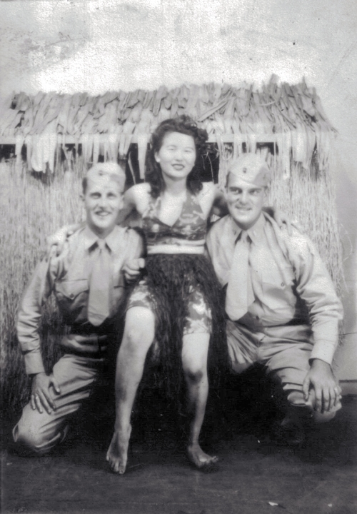 Phil Wood, Harry Reynolds, a young lady who offered kisses for a quarter.