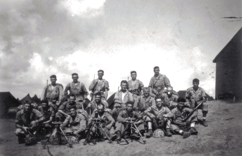 The mortar section, April 1944.