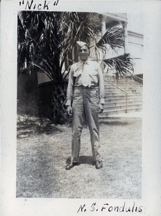 Nick Fondulis served briefly with a night-fighter squadron before spending the war at Cherry Point, North Carolina.