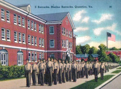 Phil sent home this postcard of his barracks while at OCS.