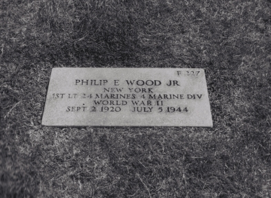 Phil's grave at the National Memorial Cemetery of the Pacific, Honolulu.