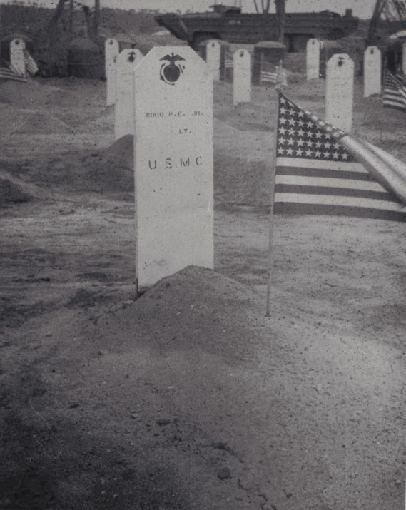 Phil's grave in the 4th Marine Division Cemetery, Saipan.