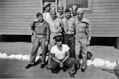 Gunners at Camp Pendleton. Back Row: George Hall, David Spohn, Howard Kerr Middle Row: Tom Johnson, Tom Hurley, JJ Franey, George Smith Front: Amedeo Izzo