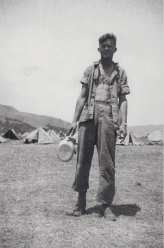 """""""Franey looking a little unpressed."""" PFC Franey was a mortarman in Phil Wood's platoon."""