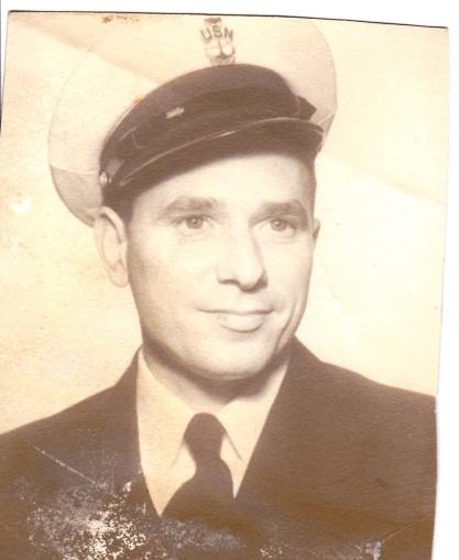 Blevins in his Navy uniform.
