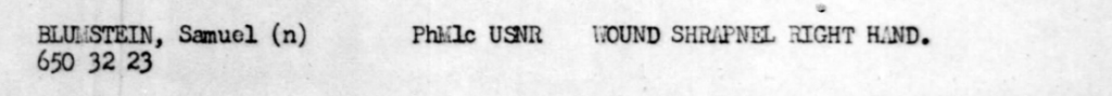 Muster roll of the USS Munda, March 9, 1945.