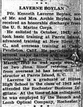 The Hilton Record, November 1, 1945.