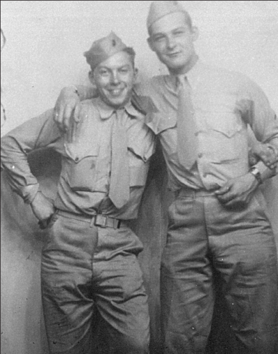 Eugene Andree and Ed Curylo Andree was killed on Iwo Jima.