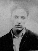 The only known photograph of Victor Aury, taken in 1933.