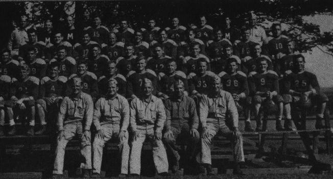 The undefeated 1944 football team, Camp Maui. Official USMC Photo.