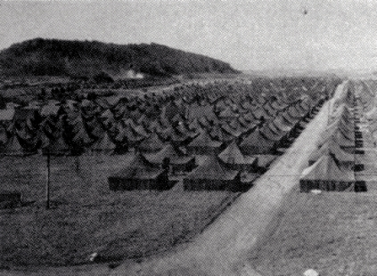 View of the eastern portion of Camp Maui. The 23rd Marines inhabited these tents. Official USMC Photo.