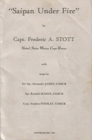 The cover to Stott's 1945 publication.
