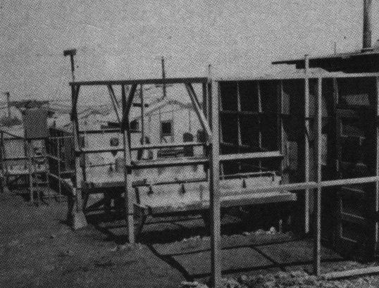 Outdoor bathing facilities, Camp Maui, 1944. Official USMC Photo.